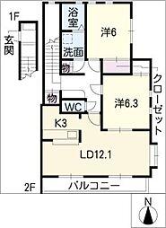 メルベーユY[2階]の間取り