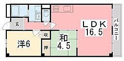 兵庫県姫路市飾磨区三和町の賃貸マンションの間取り