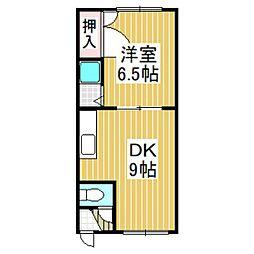 ホワイトパレス豊川[202号室]の間取り