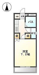 岡山県岡山市中区神下の賃貸アパートの間取り