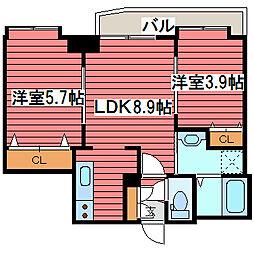 北海道札幌市豊平区福住二条3丁目の賃貸マンションの間取り