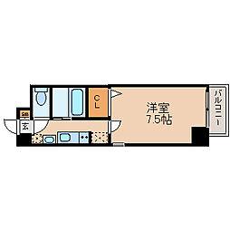 愛知県名古屋市熱田区明野町の賃貸マンションの間取り