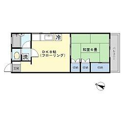 大岡山マンション[2階]の間取り