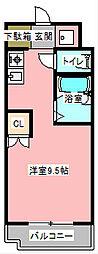 アップル第3マンション[2階]の間取り