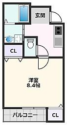 フジパレス吹田寿町V番館 1階1Kの間取り