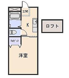パールヒルMIYAII[1階]の間取り
