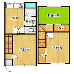 ホワイトタウン松浜[1階]の間取り