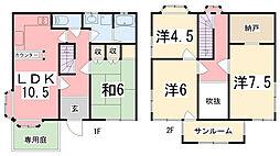 [一戸建] 兵庫県姫路市安田4丁目 の賃貸【/】の間取り