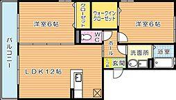 ケイズスクエア D棟[1階]の間取り