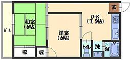 ヒロミツイースト[3階]の間取り