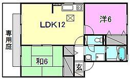セルーナ椿 C棟[102 号室号室]の間取り