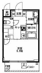 都営新宿線 曙橋駅 徒歩5分の賃貸マンション 3階1Kの間取り