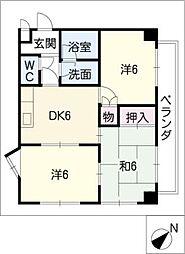 サン・ピボット上小田井[1階]の間取り