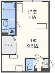 GRANDWOOD KANON[2階]の間取り