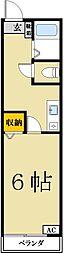 リヴァージュ・パレス 無料高速インターネット付き[2階]の間取り