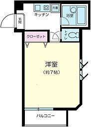神奈川県横浜市南区六ツ川1の賃貸アパートの間取り