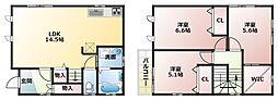 [一戸建] 大阪府八尾市西木の本3丁目 の賃貸【/】の間取り