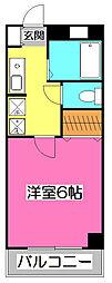 埼玉県新座市野火止5丁目の賃貸マンションの間取り