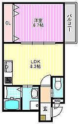 グレートヒルズ6番館[2階]の間取り