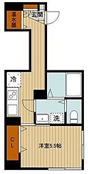 東京メトロ半蔵門線 神保町駅 徒歩4分の賃貸マンション 2階1Kの間取り