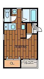 シャングリラ町田[4階]の間取り