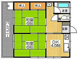 寿荘[A-7号室]の間取り