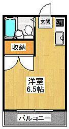 東京都世田谷区代沢5丁目の賃貸アパートの間取り