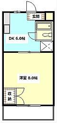静岡県袋井市田町2丁目の賃貸マンションの間取り