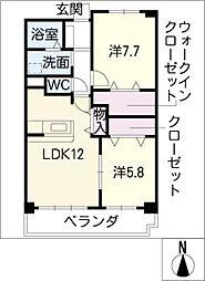 ザ・ウィングS[2階]の間取り