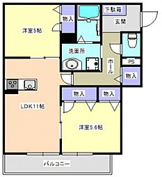 牛田早稲田新築マンション[0202号室]の間取り
