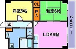 兵庫県神戸市須磨区行幸町3丁目の賃貸マンションの間取り