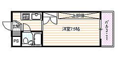 第二京都メゾンベルジュ西京極[302号室]の間取り