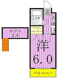 ジュネパレス新松戸901B[1階]の間取り