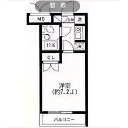 スカイヒル生田[306号室]の間取り