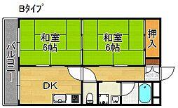 住之江都姫ビル[4階]の間取り