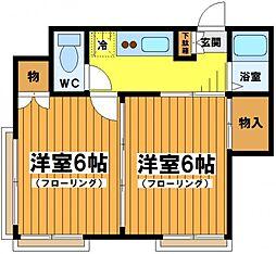 東京都中野区南台3丁目の賃貸アパートの間取り
