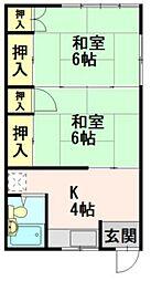 鎌田アパート[11号室]の間取り