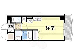 Osaka Metro御堂筋線 新大阪駅 徒歩5分の賃貸マンション 5階ワンルームの間取り