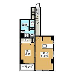 仮称 中京区下八文字町マンション[2階]の間取り