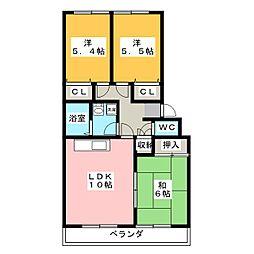 ドミール福島 B棟[3階]の間取り