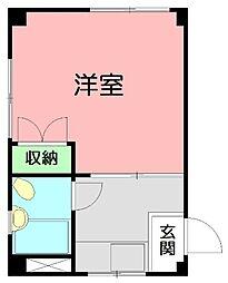 ロイヤル平塚[3階]の間取り