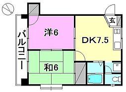 メロディーハイツ柳井[501 号室号室]の間取り