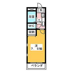 サンライズマンション3[3階]の間取り