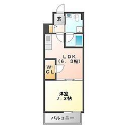 サンレムート江坂east[4階]の間取り
