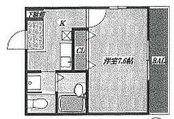 コンフォート狭山[205号室]の間取り