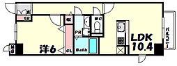 兵庫県神戸市中央区北野町1丁目の賃貸マンションの間取り