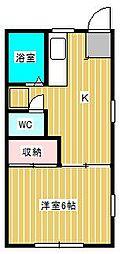 ベルナハイツII[1階]の間取り