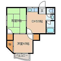 ハウス紫陽花[2階]の間取り