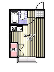 天台ハイリビング五番館[203号室]の間取り