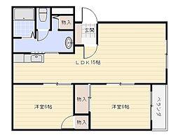 ピュアライフ太子堂[2階]の間取り